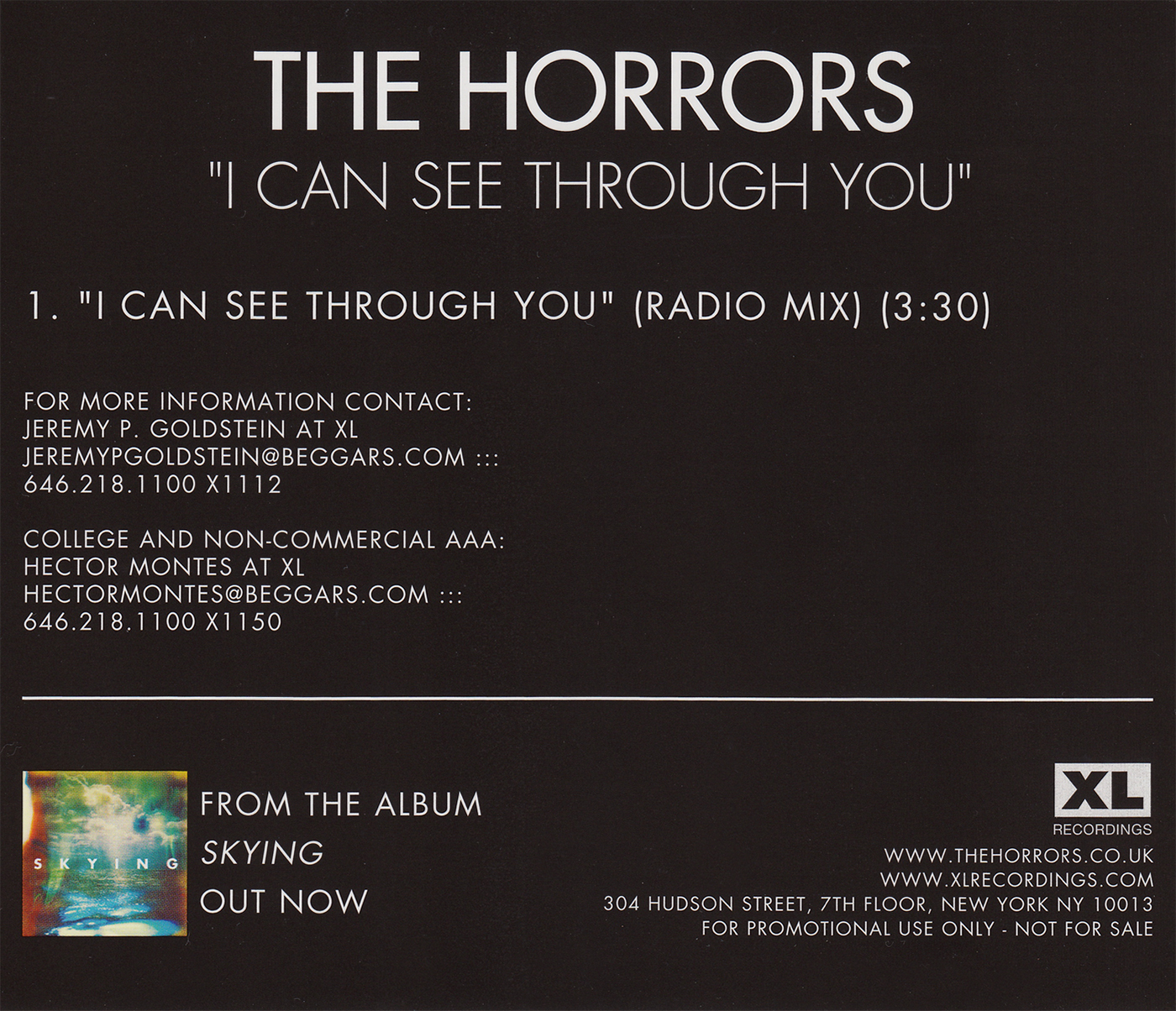 RunOutGrooves com | The Horrors | single discography